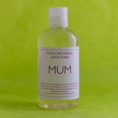 Bath foam with essential oils for Mum