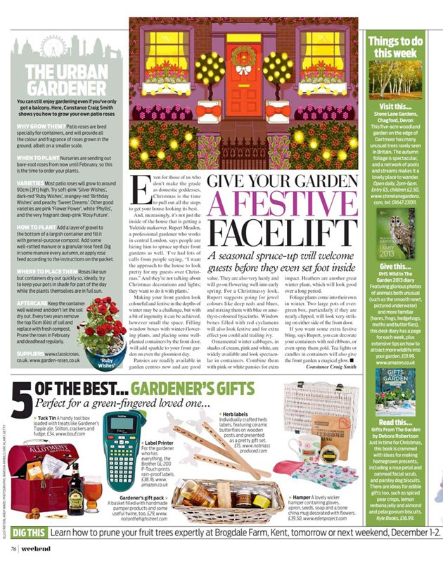 Gardeners Gift basked featured in Daily Mail's Weekend magazine