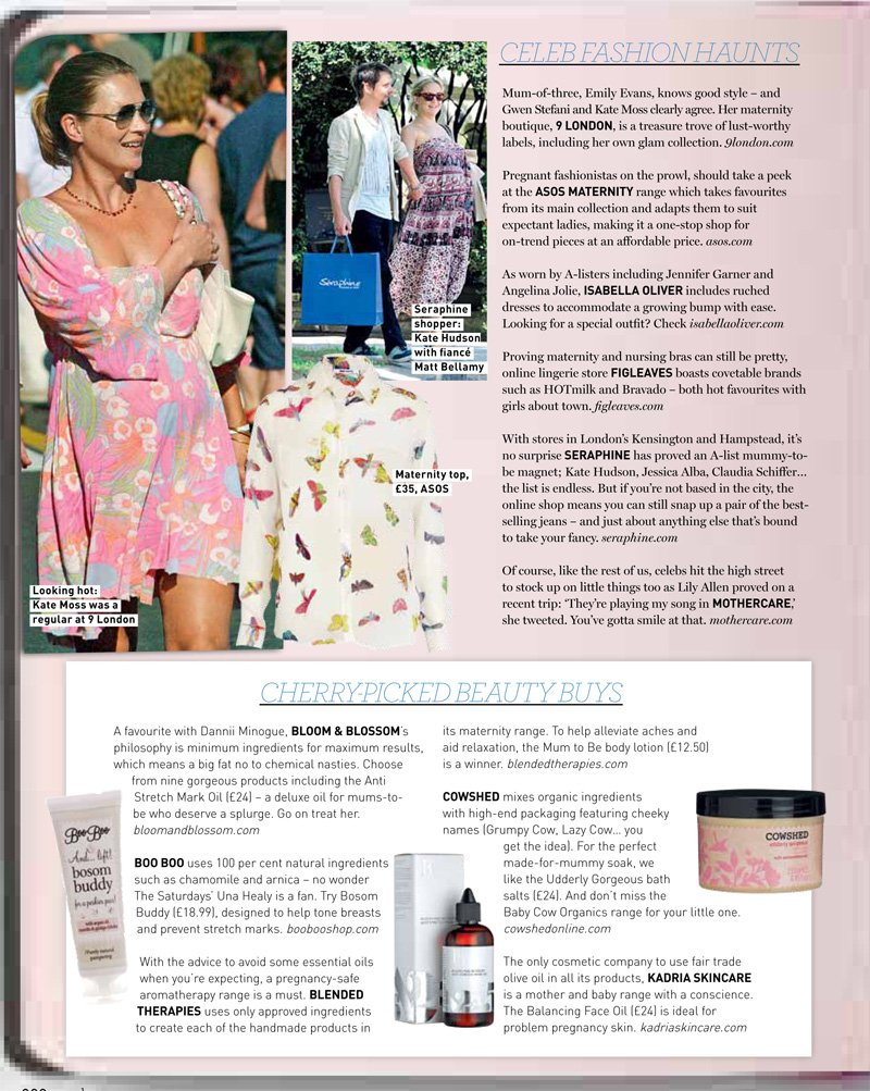 Mum To Be Lotion featured in Gurgle Magazine