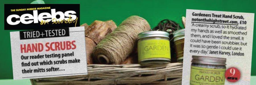 Gardeners Hand Scrub featured in Celebs on Sunday