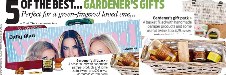 Gardeners Gift Basket featured in Daily Mail's Weekend Magazine