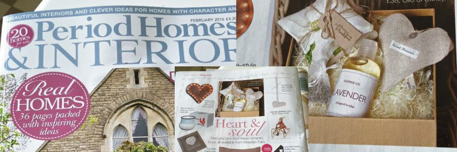 Period Homes & Interiors Magazine featuring Blended Therapies Lavender gift box