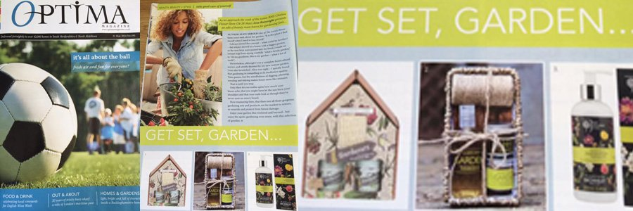 Gardeners Gift Set featuring in Optima magazine