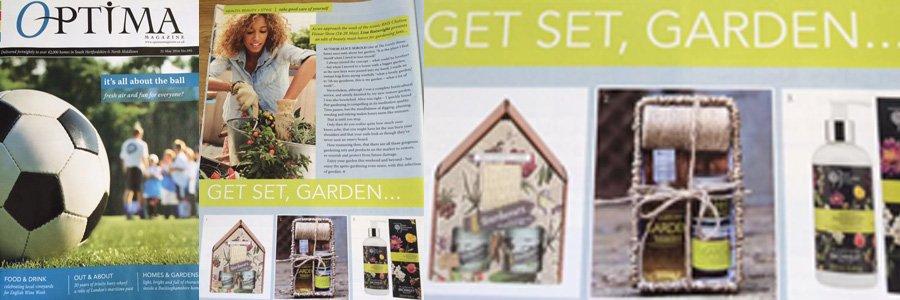 Gardeners Gift Set featuring in Optima magazine