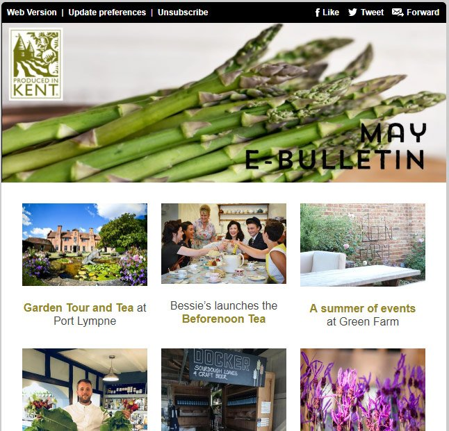 May eBulletin from Produced in Kent