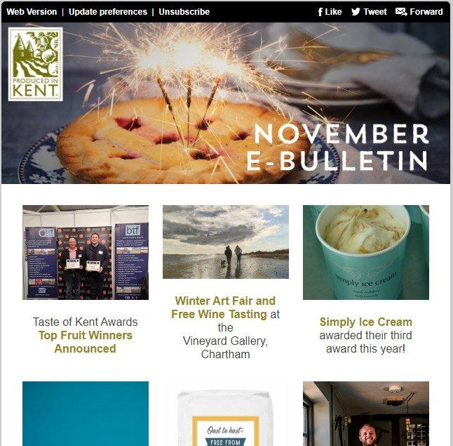 Produced in Kent November e-bulletin 2019