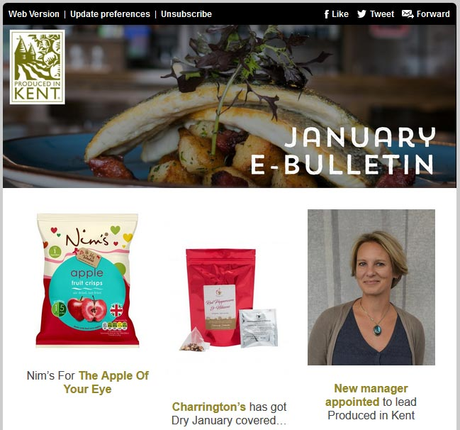 January ebulletin from Produced in Kent