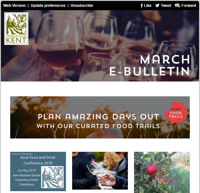 March e-Bulletin from Produced in Kent