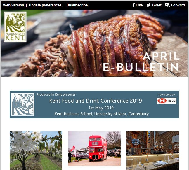 April eBulletin from Produced in Kent